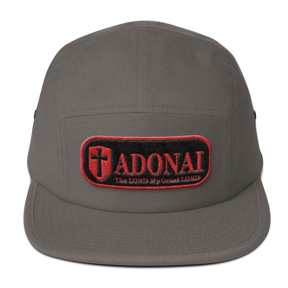 Five Panel Cap(3D Puff Embroidery) - ADONAI, The LORD my Great LORD
