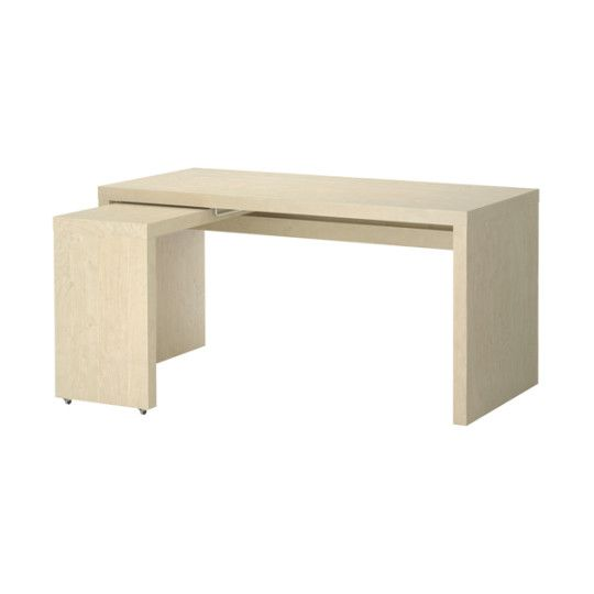 Strange Malm Desk With Pull Out Panel Birch Veneer Ideas For The Download Free Architecture Designs Scobabritishbridgeorg
