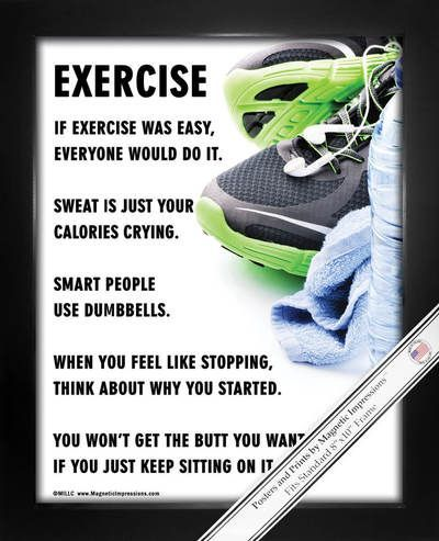 buy exercise fitness 8x10 sport poster print and you'll