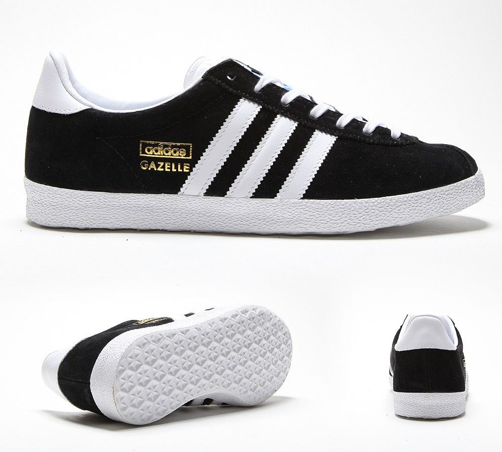 womens adidas gazelle og trainers black