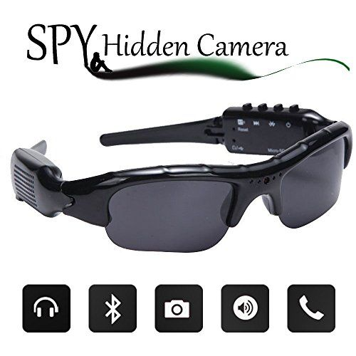 1c13958665f Wayli 720P Hidden Camera Sunglasses Video Recorder HD Camera Glasses With  Bluetooth Handsfree Answer and MP3 -- Click on the image for additional  details.