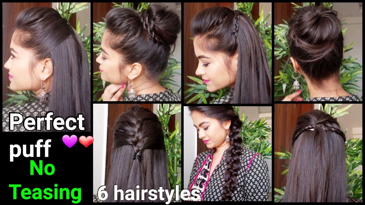1 Min Perfect Puff 6 Quick Easy Hairstyles For Medium To Long Hair For Cabelo Penteados