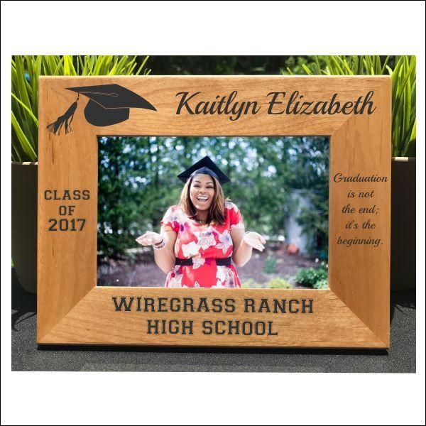 Graduation Personalized Engraved Photo Frame Class Of 2017