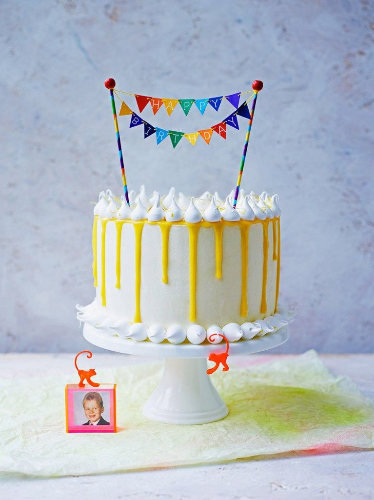 Amalfi Lemon Layer Cake Recipe Lilyanas Birthday Pinterest