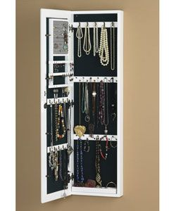 Wall-mount White Jewelry Mirror $177.99