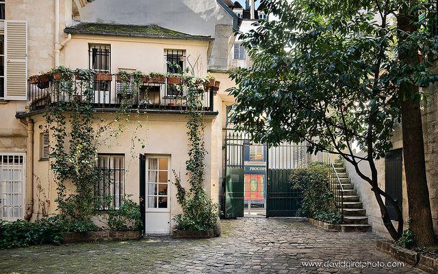 Patio, near Cours du Commerce Saint-André, Paris,