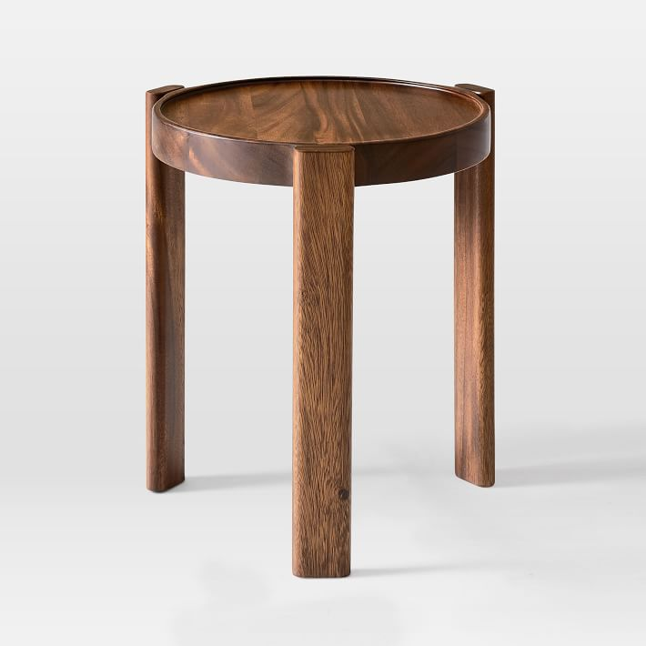 Wood Stacking Side Table Side Table Modern Side Table Walnut