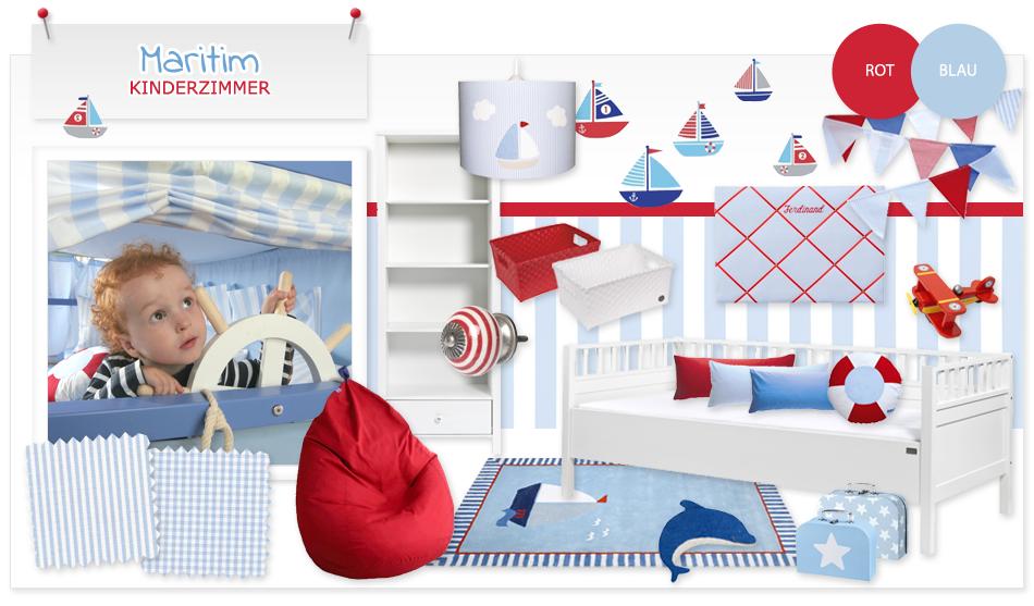 Maritimes Kinderzimmer maritimes kinderzimmer in blau rot rund ums
