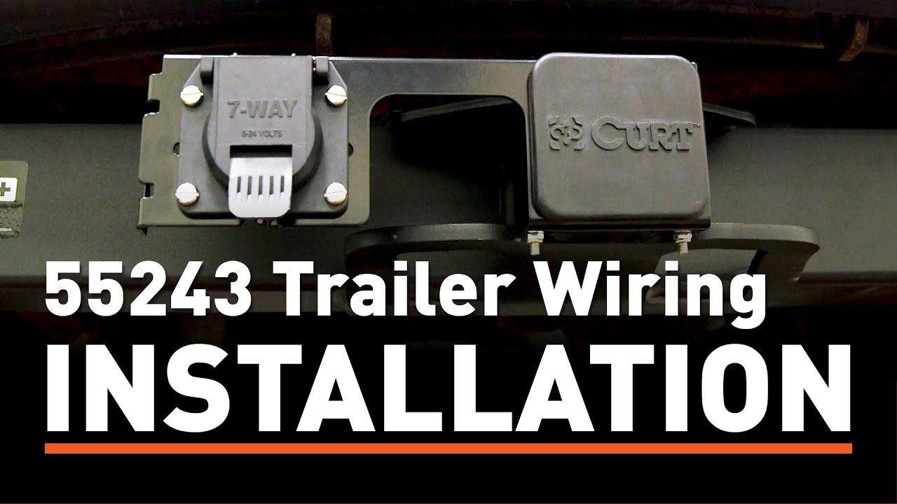 Trailer Wiring Install  Curt 55243 Custom Wiring Connector