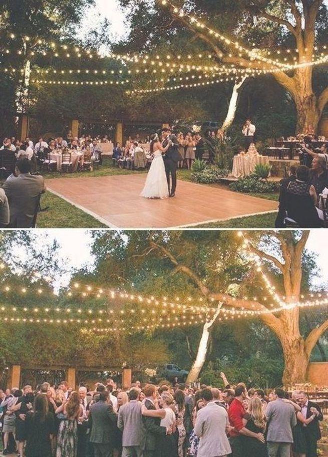 Cheap Backyard Wedding Decor Ideas 09 Outdoor Wedding Lighting Outdoor Wedding Dance Floor Wedding