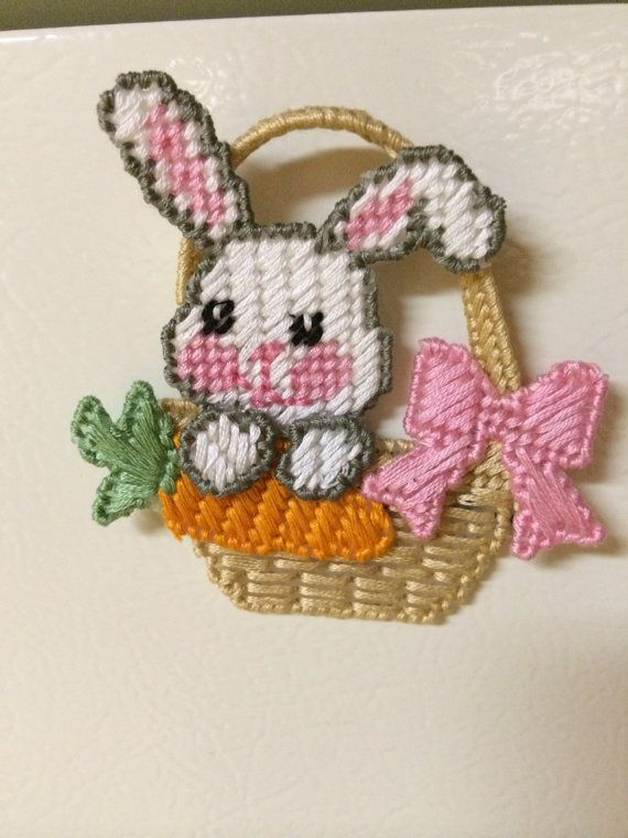 Easter Bunny Magnet Plastic Canvas By Cathygiftsandthings