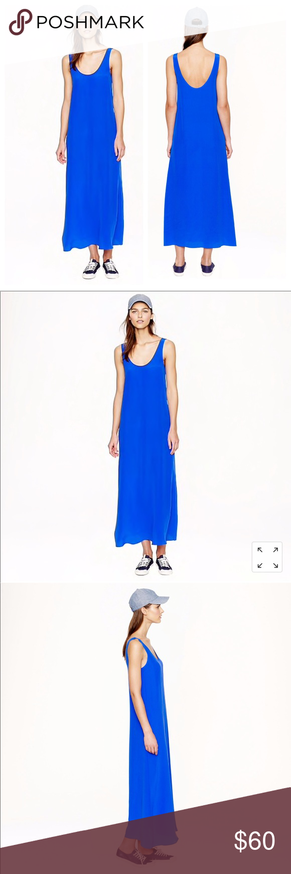 351a7c42205 J Crew blue silk crepe maxi dress size XS Currently sold out on J Crew  website