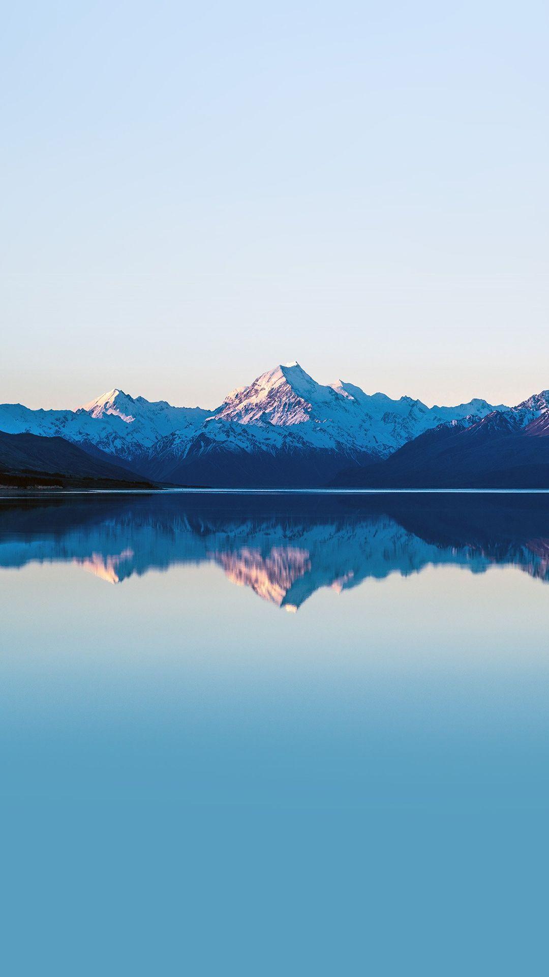 Mountain lake beautiful nature blue sky iphone 6 plus - Beautiful nature wallpapers for iphone ...