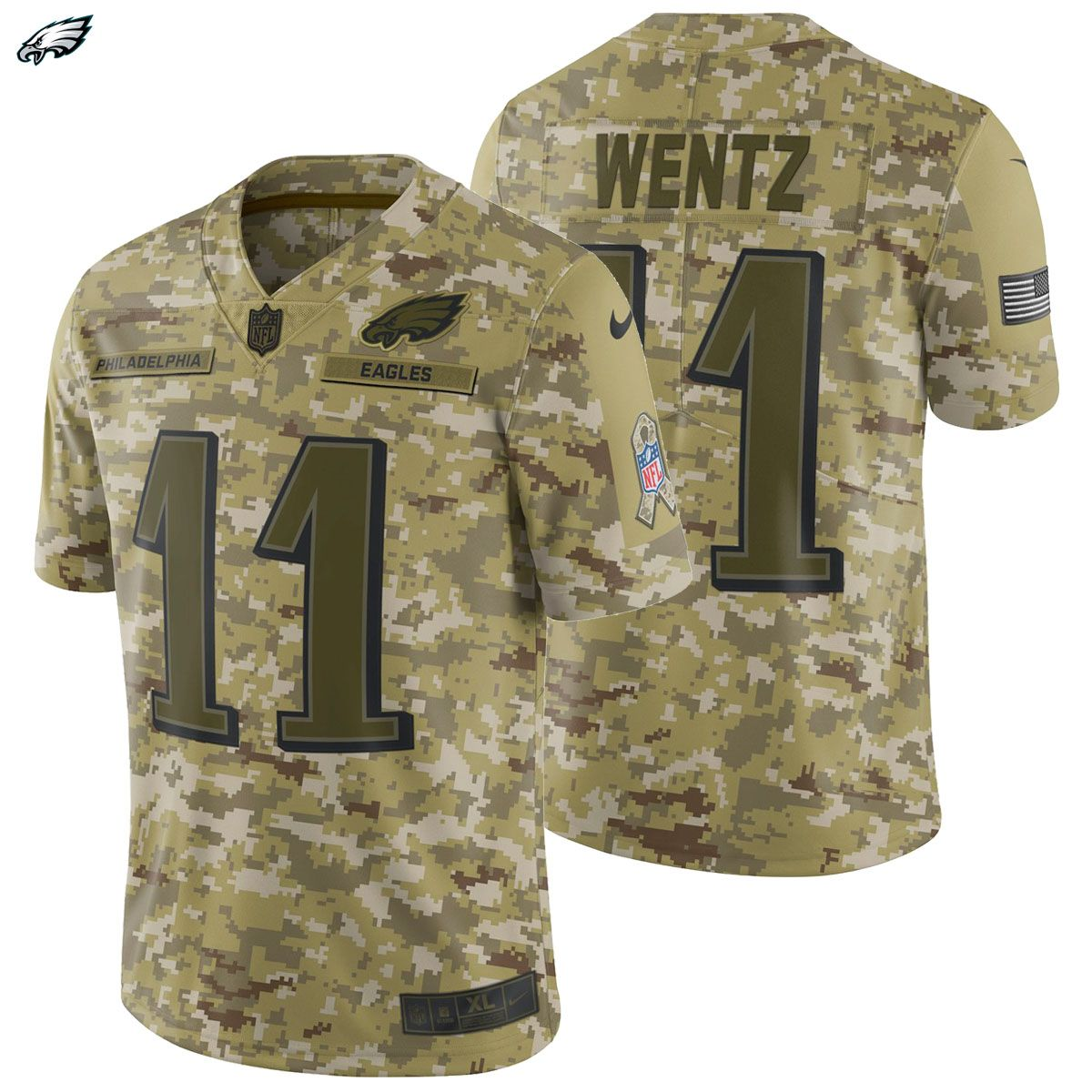 4342b976442 Carson Wentz Nike 2018 Salute to Service Limited Jersey Philadelphia Eagles  Army Salute The Troops! The NEW 2018 Salute To service Line Is Finally Here!