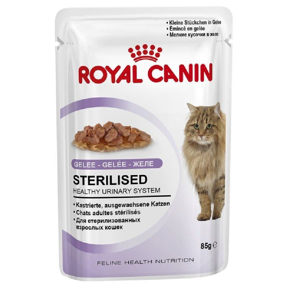 12 Pouch X Royal Canin Sterilised Jelly 85 G 6 21 Pouch Want Additional Info Click On The Image Th Cat Food Allergy Canned Cat Food Dog Food Recipes