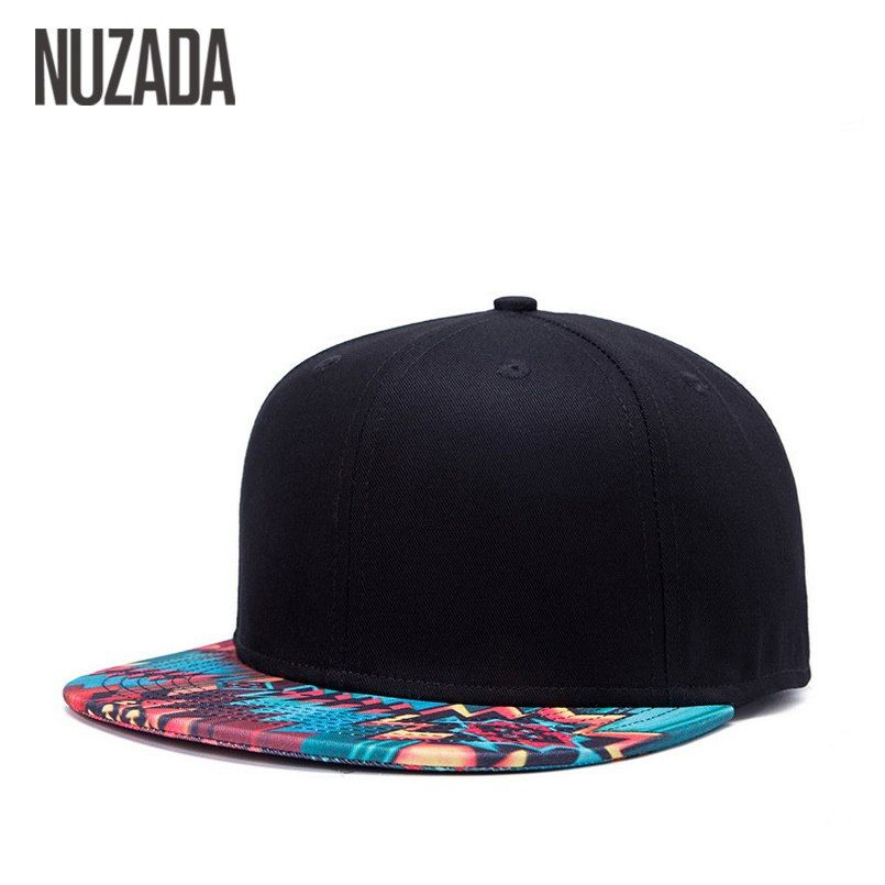 a891c18c7ca39 Brand NUZADA Unique Design Baseball Cap For Women Men Bone Printing Pattern  Caps Cotton Popular Street Art Hats Snapback