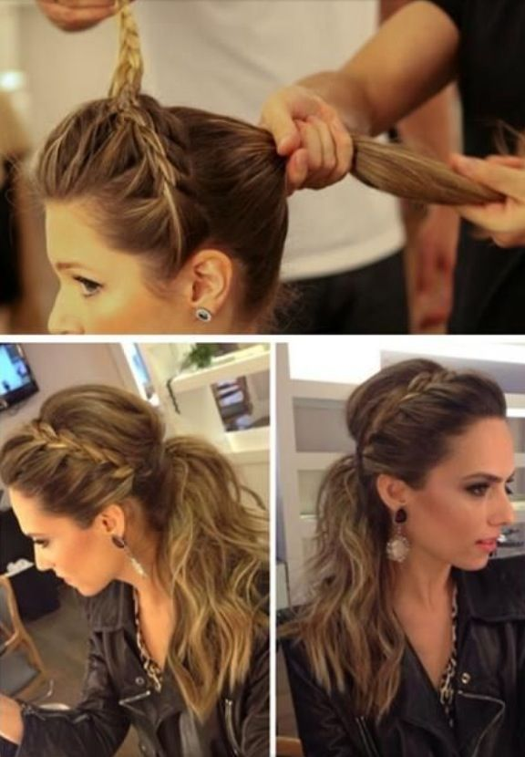 Top 10 Fashionable Ponytail Tutorials Top Inspired Hair Styles Long Hair Styles Ponytail Tutorial