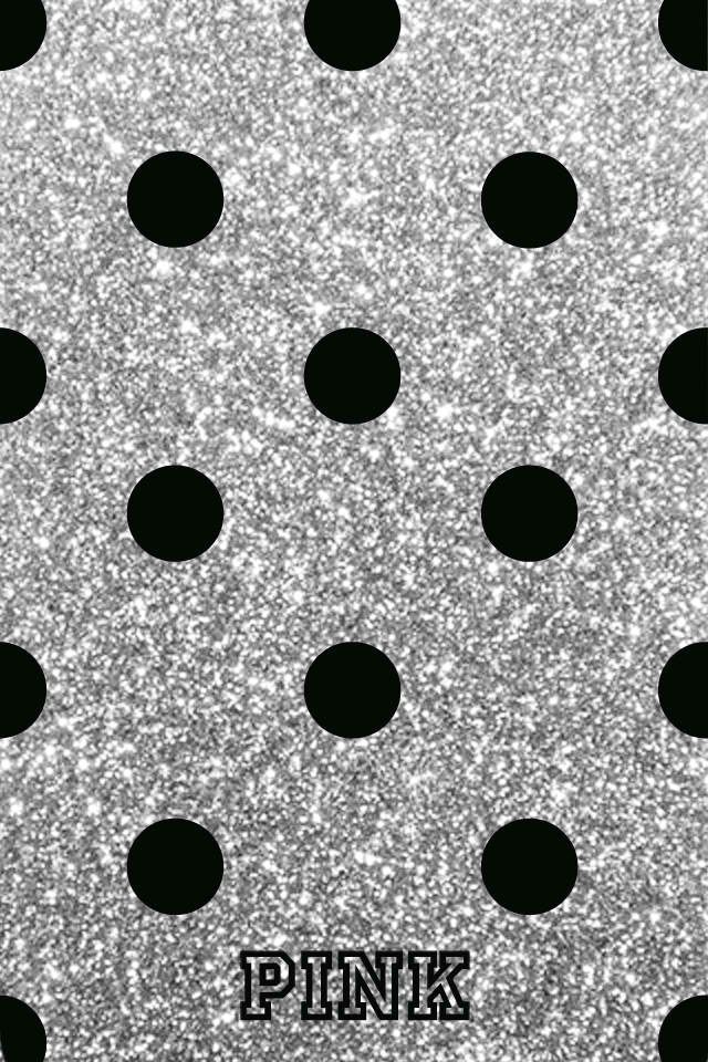 Get Latest Black Wallpaper Iphone Glitter Polka Dots for iPhone XS Max 2020