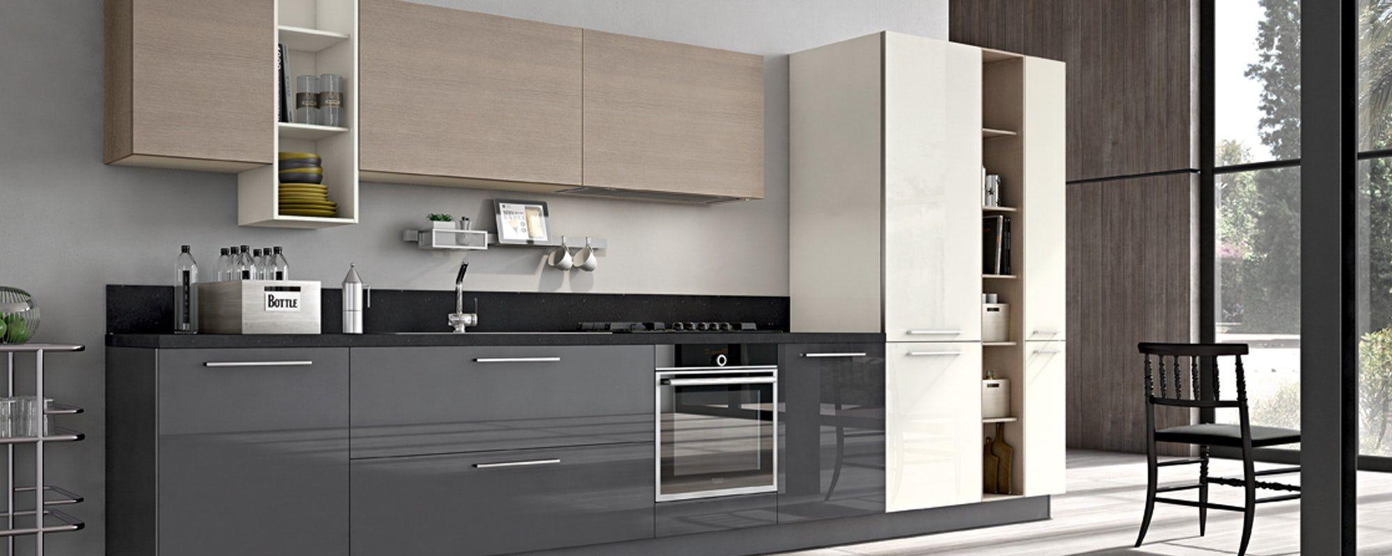 Mobile Per Lavabo Cucina cucine moderne stosa - modello cucina aleve 01 (с
