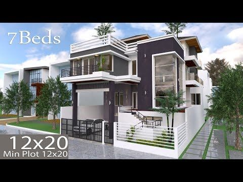 Home Design Plan 7x10m With 6 Bedrooms This Villa Is Modeling By Sam Architect With One Stories Level Architectural House Plans House Plans House Layout Plans