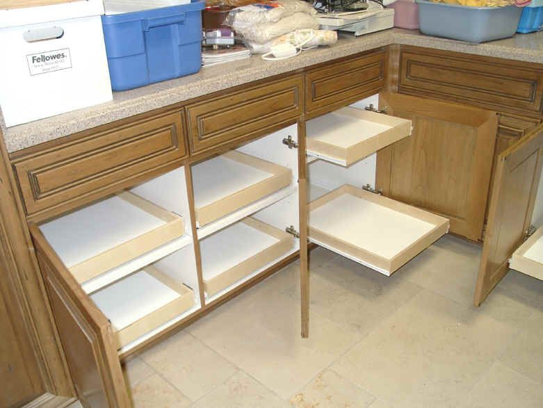 Slide Outs For Kitchen Cabinets | ... Sliding Shelves Roll Outs Or Pull