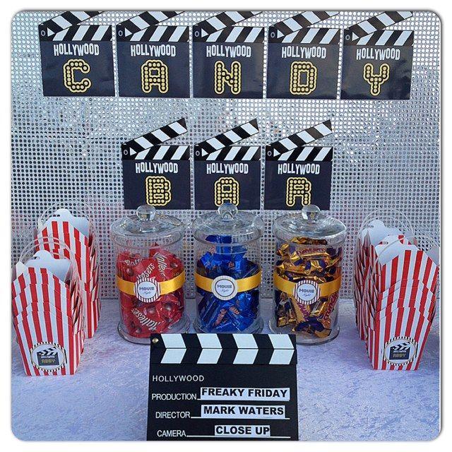 Movie Night by Leanne\u0027s Sweet Themed candy Buffet Sweet 16 - sweet 16 halloween party ideas