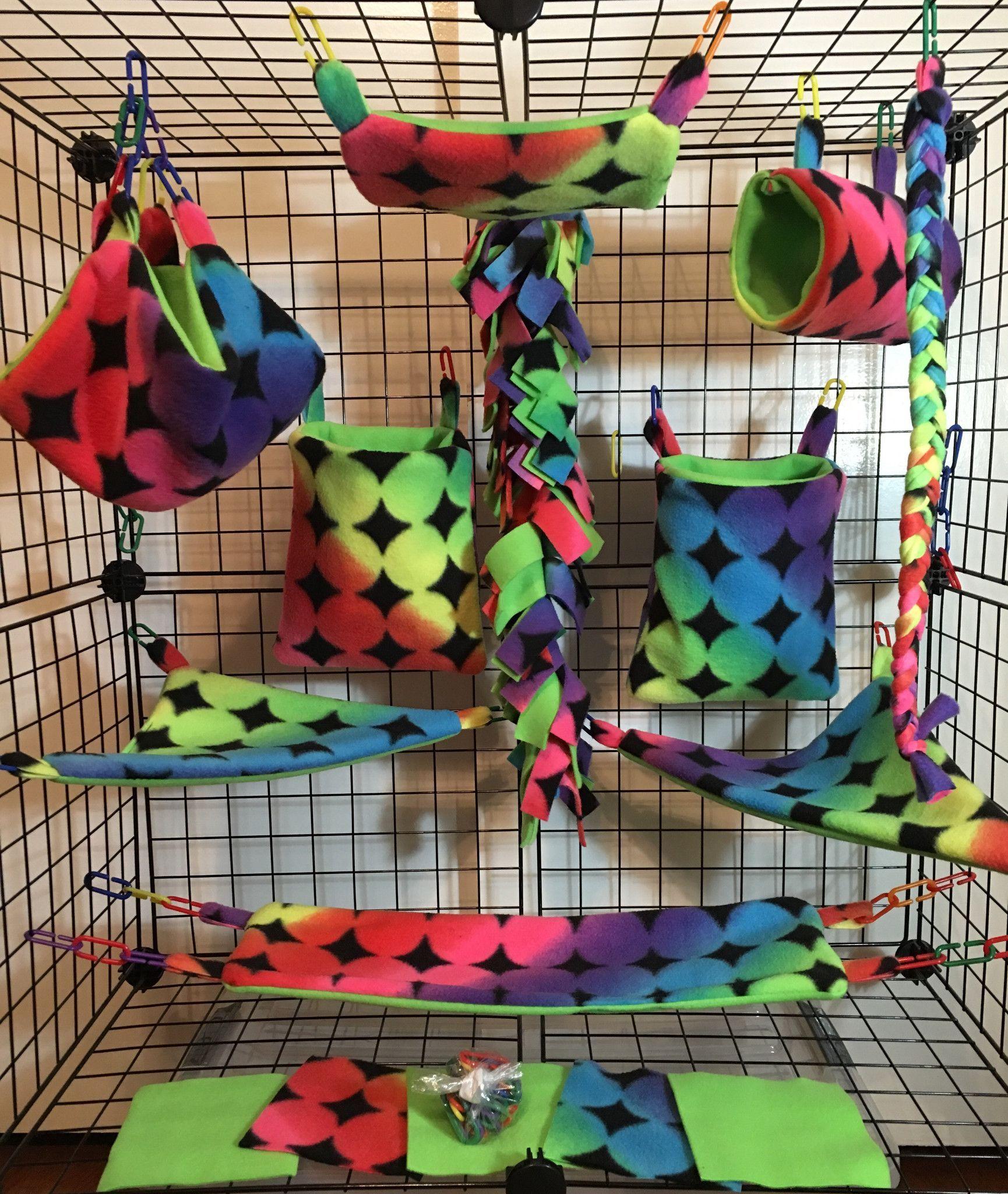 15 piece sugar glider cage set seamless sugar glider