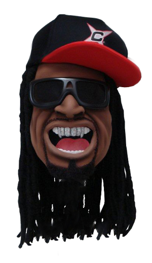 Here S The Mascot Head We Made For Entertainer Lil Jon Note The Individual Rhinestones Installed For The Mouth Grill Lil Mascot Mascot Costumes Mouth Grills