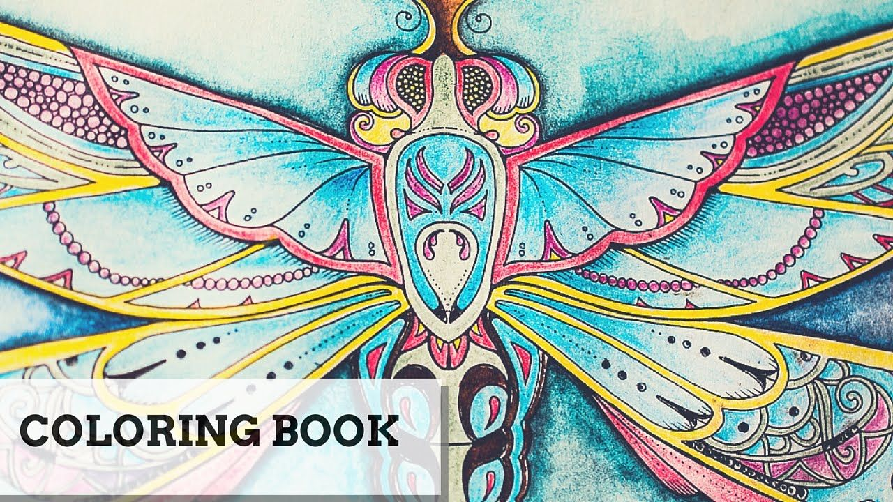 Coloring Book The Enchanted Forest Dragonfly