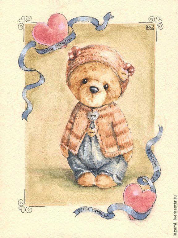 кадры старые открытки с мишками выбор рисунков картинок