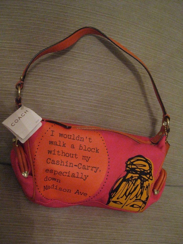 6fe25f511e10a Un Used COACH Bonnie Cashin Madison With Original Tag $188.00 Dollars  Fuschia #Coach #SmallHandbag