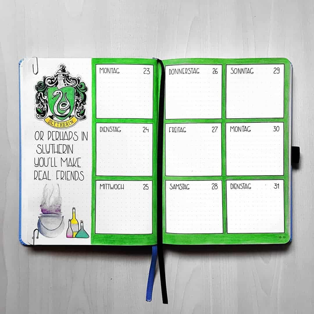 Part 2 80 Magical Harry Potter Bullet Journal Layout Ideas My Inner Creative Bullet Journal Themes Bullet Journal Bullet Journal Layout