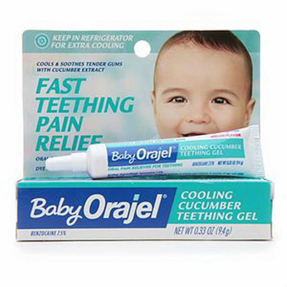 buy baby orajel cooling cucumber teething pain relief gel 033 oz provides safe