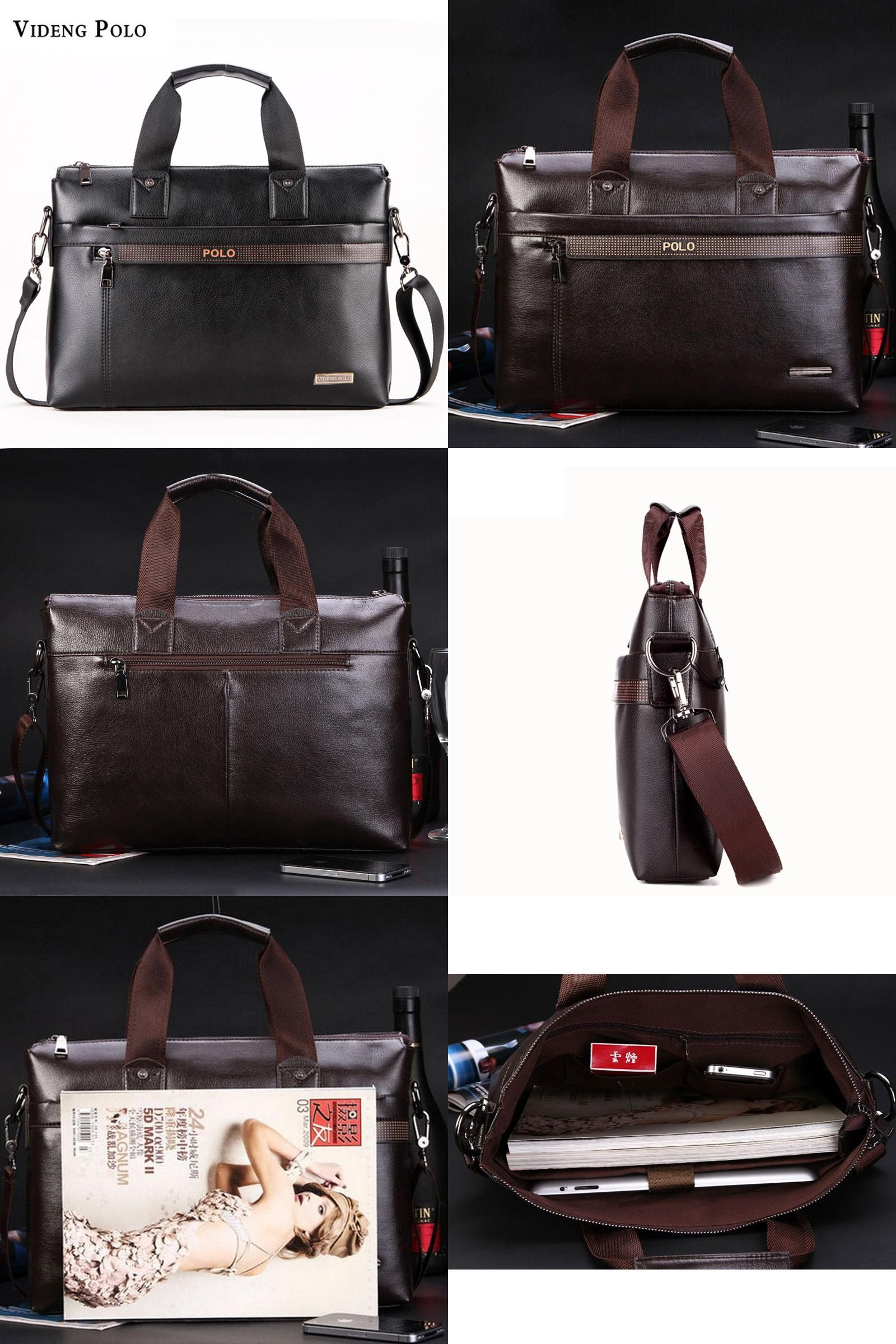 e94b1e1371  Visit to Buy  Free Shipping 2017 New Fashion pu Leather Bags for Men famous