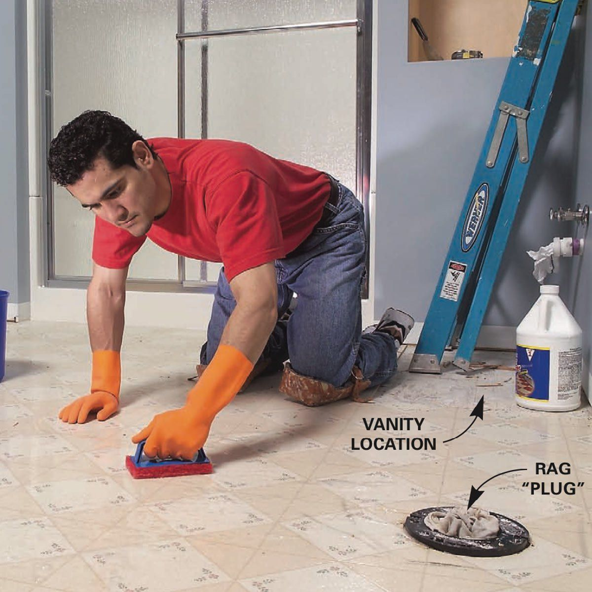 How To Install Ceramic Tile Floor In The Bathroom Ceramic Floor Tiles Installing Tile Floor How To Lay Tile