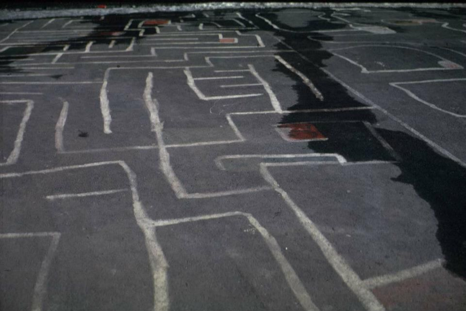 Labyrinth painting of the students
