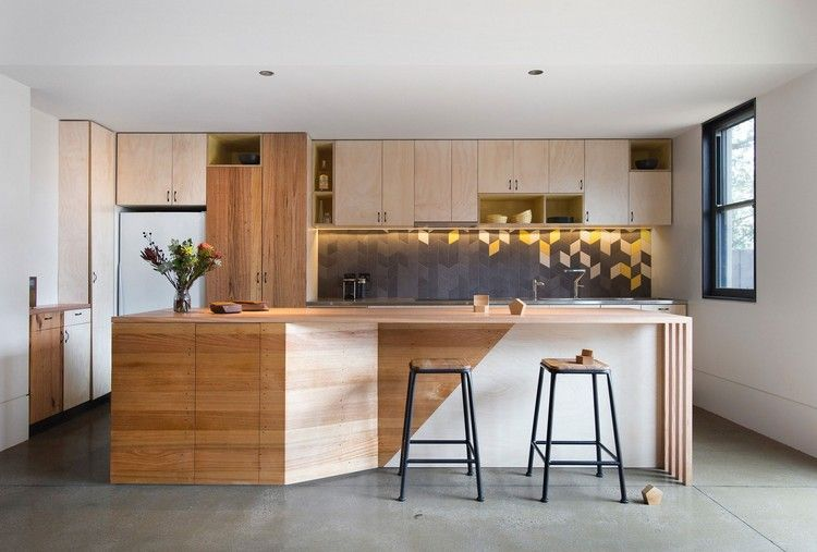 holz küche farben kombinieren tipps grau weiß gelb #brown #interior ...