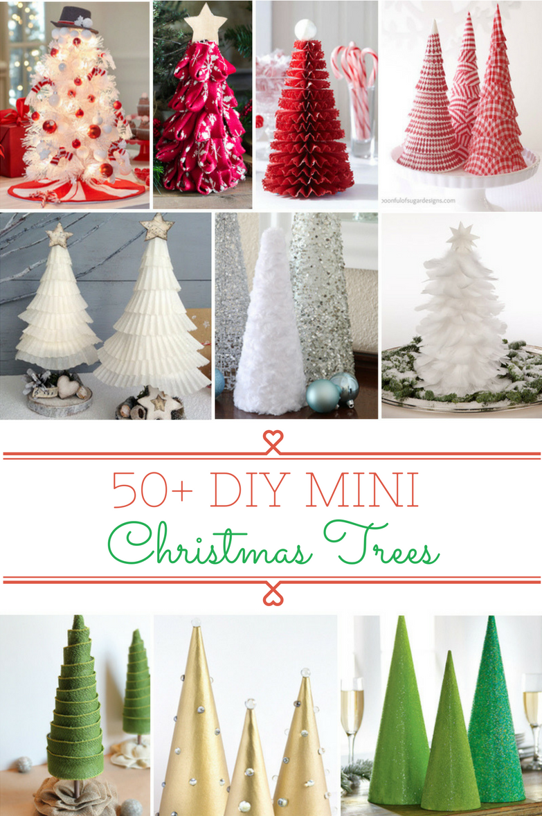 50 DIY Mini Christmas Tree Crafts (With images