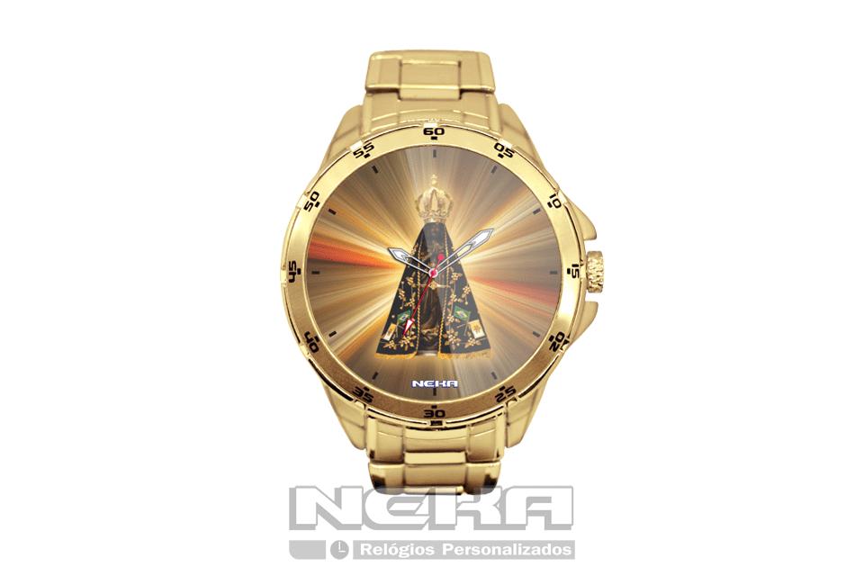 a42d6e622ab Nossa senhora de Aparecida um lindo relógio de pulso personalizado com a  imagem de nossa senhora