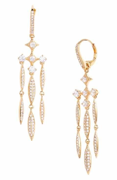 Nadri Cardamom Chandelier Earrings 98 Wedding Jewelry Pinterest