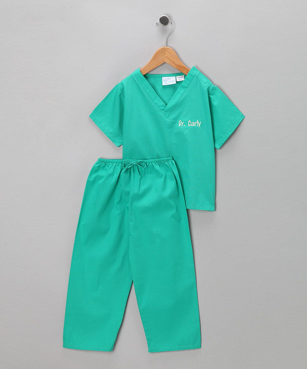 Take a look at this Princess Linens Green Scrub Personalized Dress-Up Set - Infant, Toddler & Kids on zulily today!  $21.99, Infant - size 8