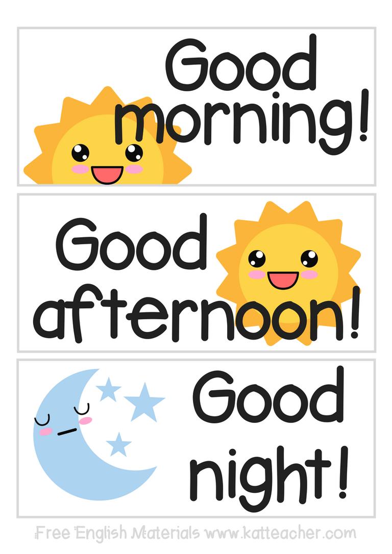 TAPIF English Materials: Good morning, Good afternoon, Good night!
