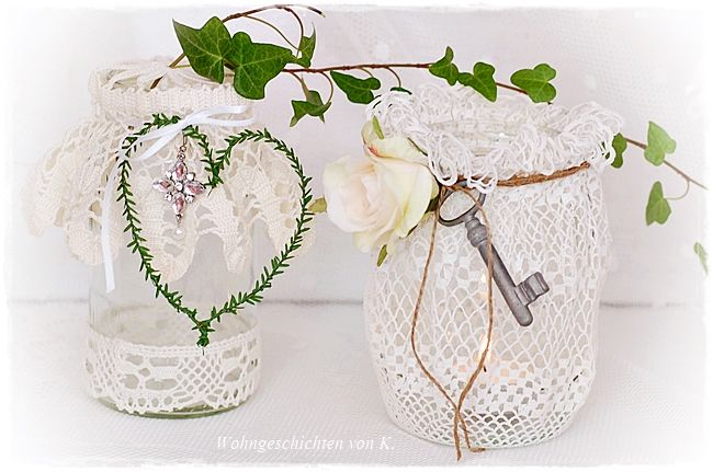 windlicht und vase hochzeitsdeko shabby chic vintage tischdeko hochzeit vintage wedding. Black Bedroom Furniture Sets. Home Design Ideas