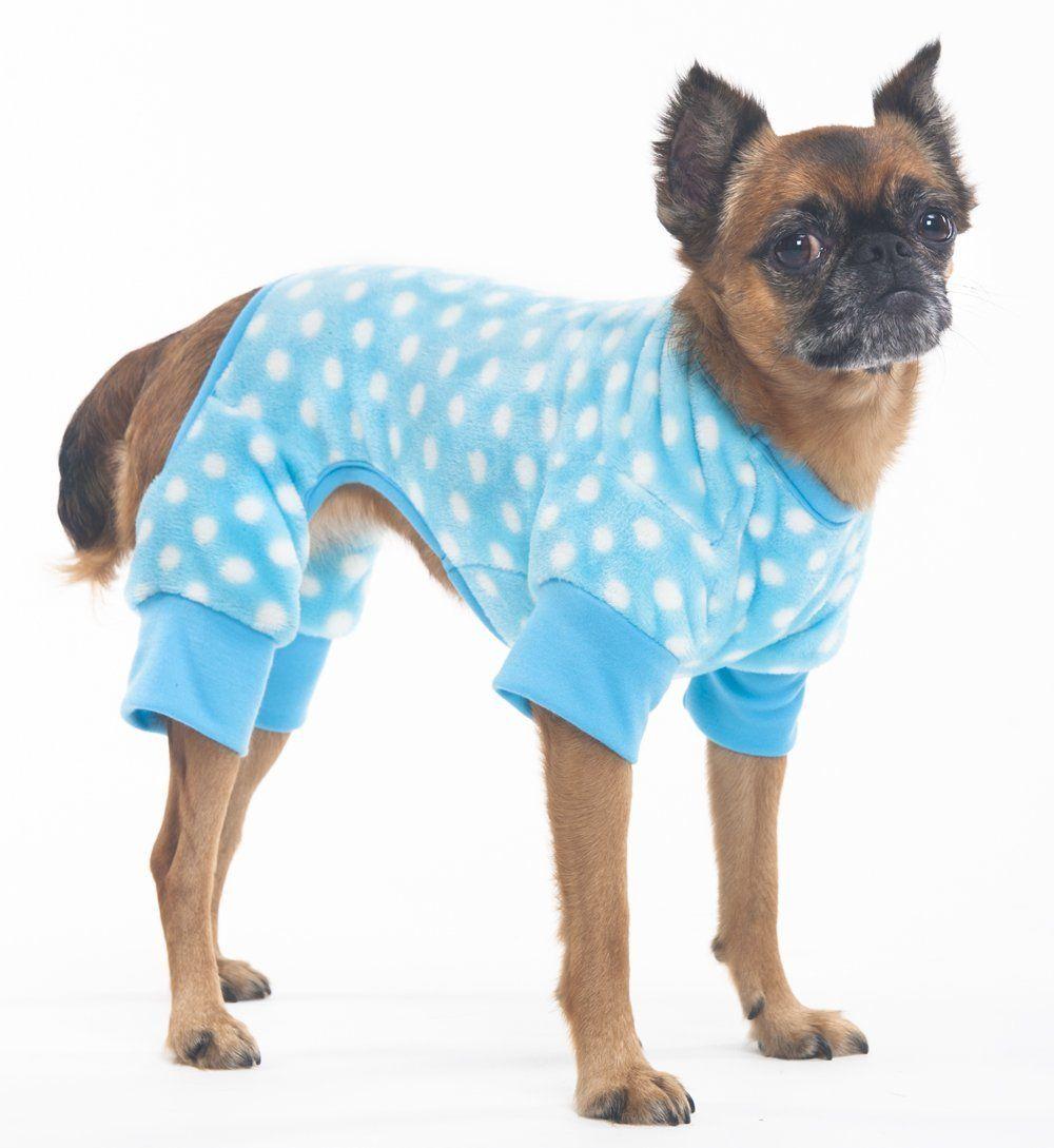 Fashion Pet Cozy Fleece Sleeper Pajamas For Pets Medium Blue