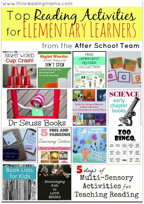 Top Reading Activities for Elementary Learners ~ from the After School Linky Team | This Reading Mama