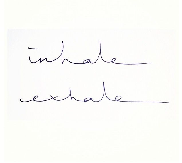 "Don't take this link. No idea where it goes - a dating site maybe. I just like the ""inhale exhale"" idea as a tattoo!"