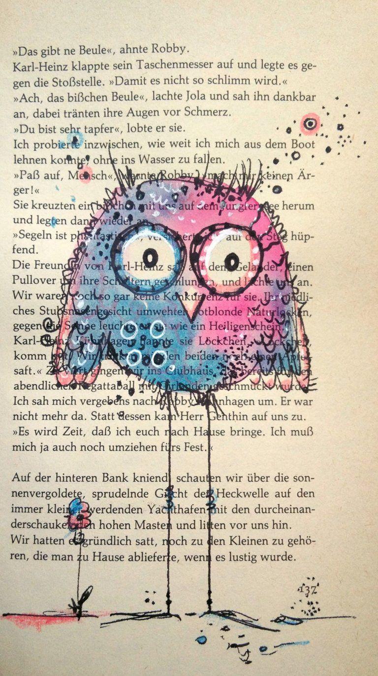 Happy Bird Auf Alten Buchseiten Varianten Fur Deine Happy Birds