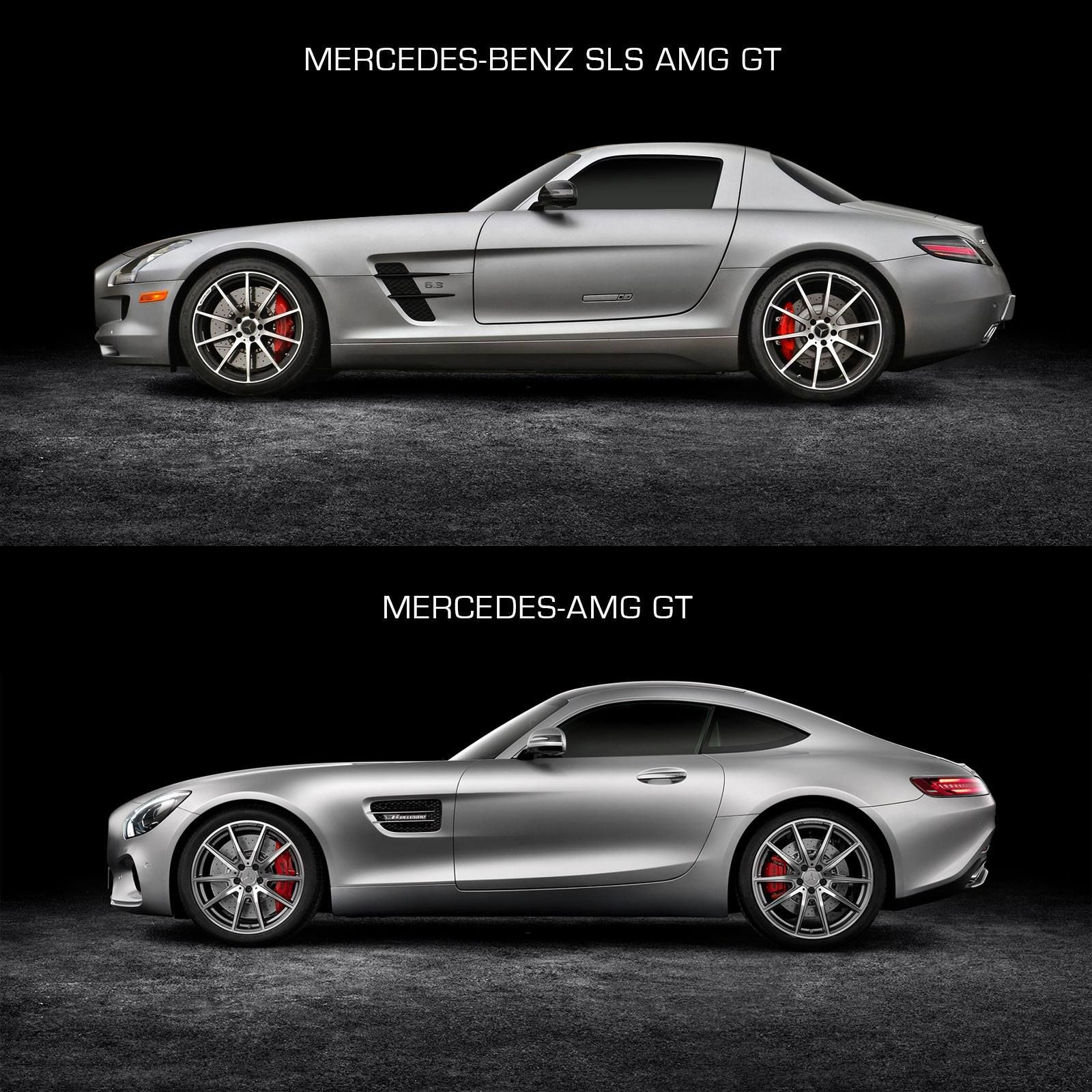Mercedes Sls Amg Gt >> Design Comparison The 2010 Sls Amg Gt And The New Mercedes