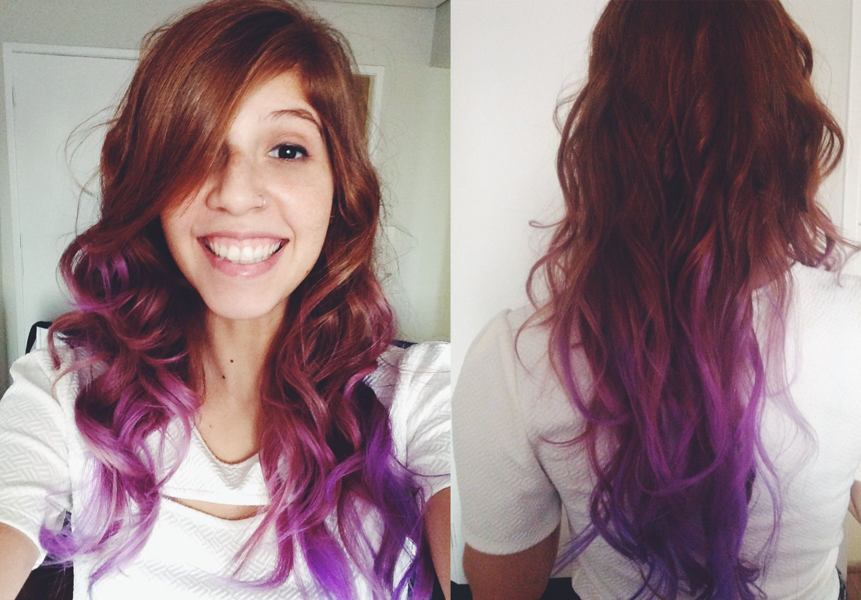 Natural Red To Purple Hair Google Search Purple Ombre Hair Ombre Hair Hair