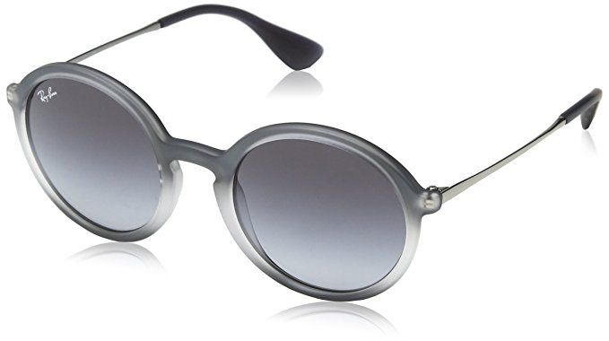 Ray-Ban Injected Man Sunglasses - Shot Grey on Black Frame Grey Gradient Lenses 50mm Non-Polarized